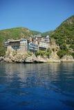 Monastère dans le support Athos Photographie stock libre de droits