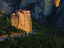Monastère dans Meteora, Grèce Photos stock