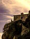 Monastère dans Meteora, Grèce Image libre de droits