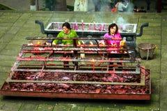 Monastère de bâti Emai Shan Photographie stock
