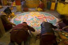 Monastère de baiqoi de Gyangze au Thibet Shigatse Photo libre de droits