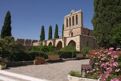 Monastère de Bellapais, Chypre du nord Photos libres de droits