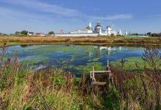 Monastère de Bobrenev fondé au siècle XIV, Russie Photographie stock