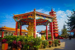 Monastère de Buddhas de dix-millièmes en étain de Sha, Hong Kong, Chine Photo libre de droits