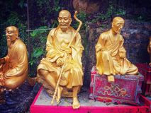 Monastère de Buddhas de dix-millièmes en Hong Kong Photo stock