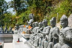 Monastère de buddhas de dix-millièmes Photos libres de droits
