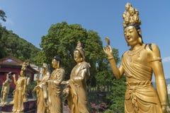 Monastère de Buddhas de dix-millièmes en Hong Kong, Chine Photographie stock libre de droits