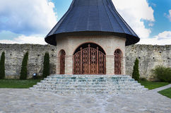 Monastère de Christian Ortodox dans Iasi Roumanie, Hadambu, crucifix Images libres de droits