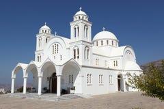 Monastère de Dassous de tou de Christos sur l'île de Paros photos stock