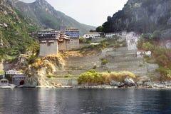 Monastère de Dionysiou sur le mont Athos, Grèce Photos stock