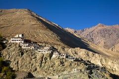 Monastère de Diskit, vallée de Nubra, Leh-Ladakh, Jammu-et-Cachemire, Inde Photographie stock