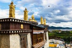 Monastère de Ganden Sumtseling Images stock