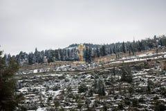 Monastère de Jérusalem Moskovia dans la neige Images stock