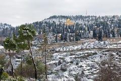 Monastère de Jérusalem Moskovia dans la neige Images libres de droits