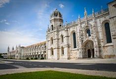 Monastère de Jeronimos à Lisbonne Photographie stock libre de droits