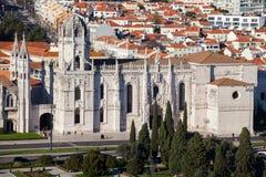 Monastère de Jeronimos à partir du dessus image stock