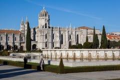 Monastère de Jeronimos Photographie stock libre de droits