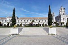 Monastère de Jeronimos, Lisbonne, Portugal Images libres de droits