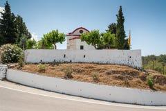 Monastère de Kalopetra, île de Rhodes, Rodos, Grèce photographie stock