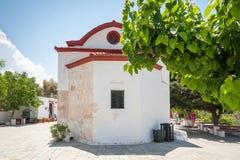 Monastère de Kalopetra, île de Rhodes, Rodos, Grèce images libres de droits