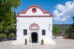 Monastère de Kalopetra, île de Rhodes, Rodos, Grèce image stock