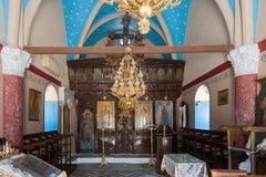 Monastère de Kalopetra, île de Rhodes, Rodos, Grèce photographie stock libre de droits