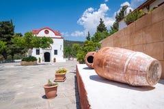 Monastère de Kalopetra, île de Rhodes, Rodos, Grèce photos stock