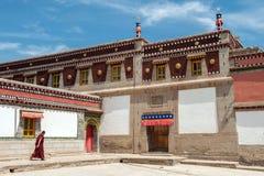 Monastère de Kumbum dans la province de Qinghai, Chine photos stock