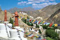 Monastère de Lamayuru, Leh-Ladakh, Jammu-et-Cachemire, Inde Images stock
