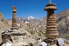 Monastère de Lamayuru, Leh-Ladakh, Jammu-et-Cachemire, Inde Photo libre de droits
