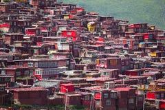 Monastère de Lharong de Sertar Images libres de droits