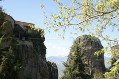 Monastère de Meteora en Grèce Photographie stock libre de droits