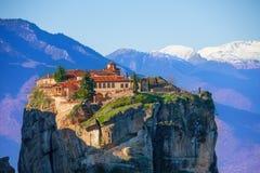 Monastère de montagne de la trinité sainte Image stock