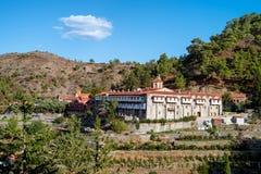 Monastère de montagne en Chypre Photographie stock libre de droits