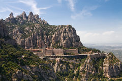 Monastère de Montserrat près de Barcelone, Espagne Photographie stock libre de droits