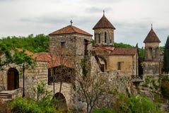 Monastère de Motsameta - un petit temple dans les abords de image libre de droits