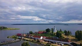 Monastère de Nilo-Stolobensky Le monastère de Nilo-Stolobensky est situé dans la région de Tver, sur le lac Seliger, la Russie image libre de droits