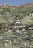 Monastère de Palkhor au Thibet Photo stock