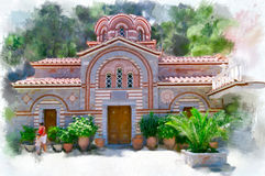 Monastère de Panagia Kalyviani Photographie stock