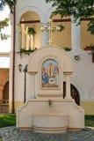 Monastère de Plumbuita à Bucarest, Roumanie - robinet de fontaine d'eau Images libres de droits