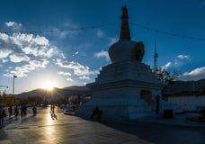 Monastère de Potala au Thibet Images libres de droits