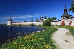 Monastère de Russia.Kirillo-Belozersky, vue d'ensemble Images libres de droits