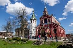 Monastère de Saint-Nicolas des hommes dans Staraya Ladoga Russie Image stock
