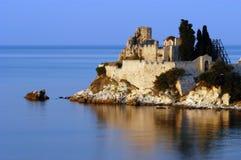 Monastère de saint Vasilie, support Athos Photographie stock libre de droits