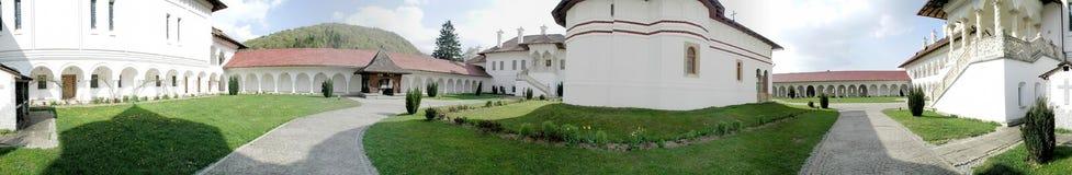 Monastère de Sambata de Sus, 360 degrés de panorama Photographie stock libre de droits