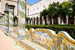 Monastère de Santa Chiara - Naples photos libres de droits