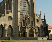 Monastère de SEDLECKÝ avec la cathédrale de l'hypothèse dans Kutna Hora, République Tchèque Images libres de droits