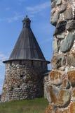 Monastère de Solovetsky de tour Image stock