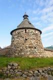 Monastère de Solovetsky de tour de Korozhnaya Images stock