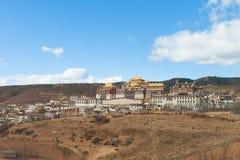 Monastère de Songzanlin dans Shangrila, Chine Photos stock